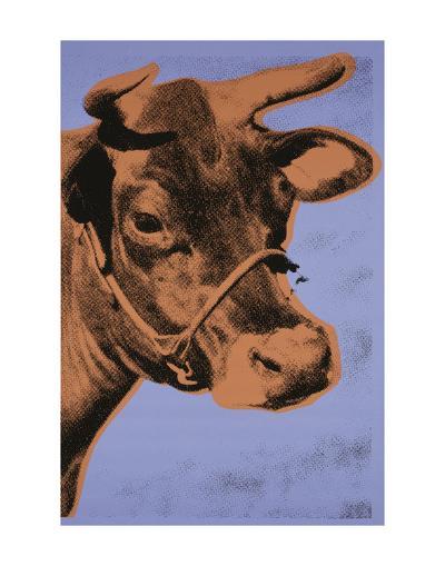 Cow, 1971 (purple & orange)-Andy Warhol-Art Print