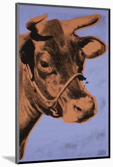Cow, 1971 (purple & orange)-Andy Warhol-Mounted Art Print