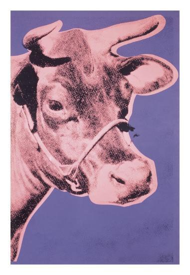 Cow, 1976 (pink & purple)-Andy Warhol-Art Print
