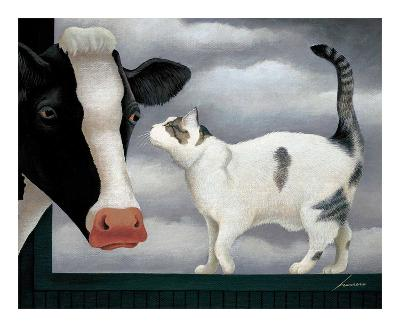 Cow and Cat-Lowell Herrero-Art Print