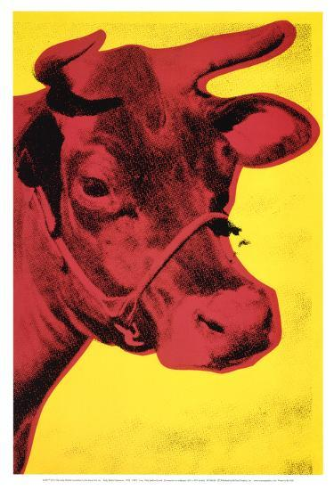 Cow, c.1966 (Yellow and Pink)-Andy Warhol-Art Print