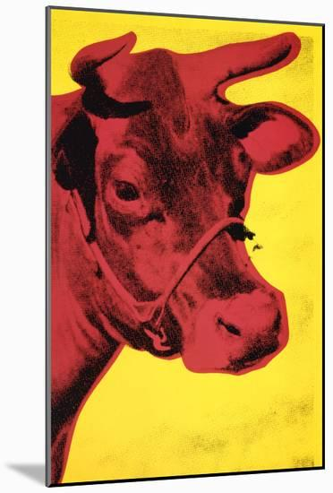 Cow, c.1966 (Yellow and Pink)-Andy Warhol-Mounted Art Print