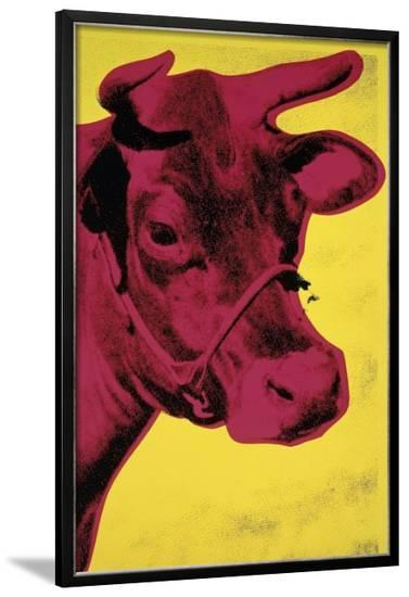 Cow, c.1966 (Yellow and Pink)-Andy Warhol-Framed Giclee Print