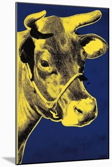 Cow, c.1971 (Blue and Yellow)-Andy Warhol-Mounted Art Print