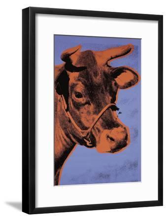 Cow, c.1971 (Purple and Orange)-Andy Warhol-Framed Art Print