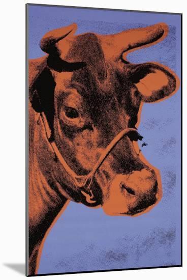 Cow, c.1971 (Purple and Orange)-Andy Warhol-Mounted Art Print