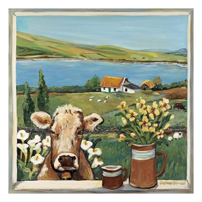 Cow in Window-Suzanne Etienne-Art Print