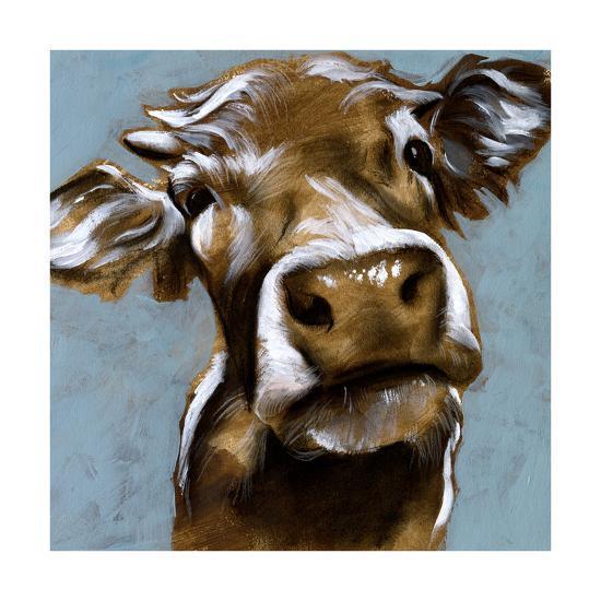 Cow Kisses I-Jennifer Parker-Art Print