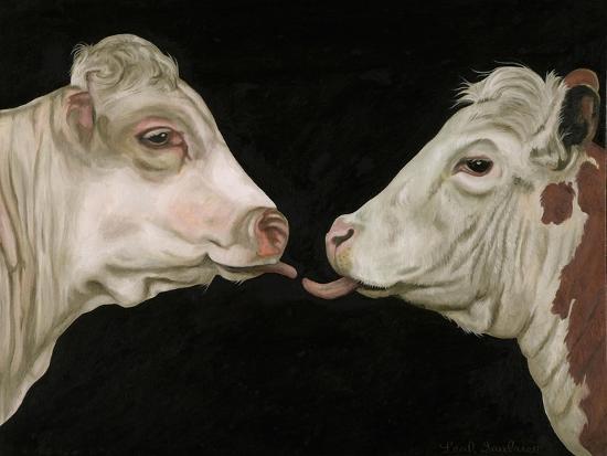 Cow Lick-Leah Saulnier-Giclee Print