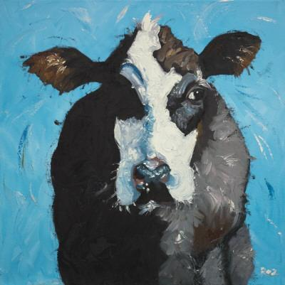 Cow, no. 302-Roz-Art Print