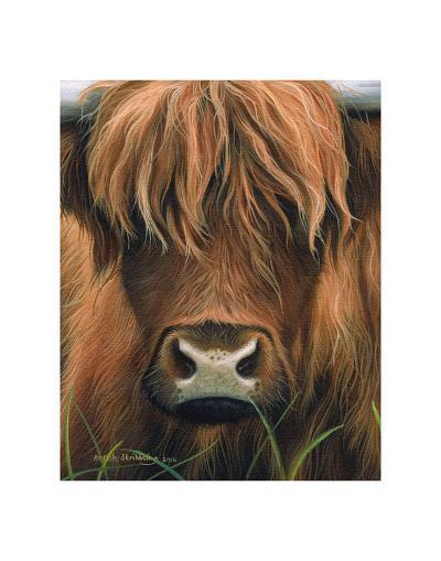 Cow Portrait-Sarah Stribbling-Art Print