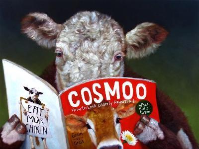 Cow Tips-Lucia Heffernan-Art Print