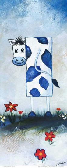 Cow-A^ Gill-Art Print