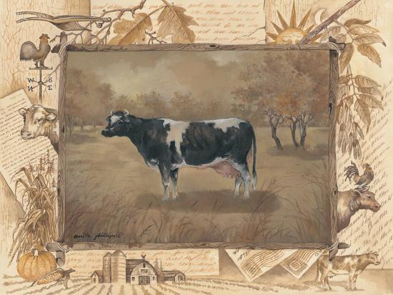 Cow-Anita Phillips-Art Print
