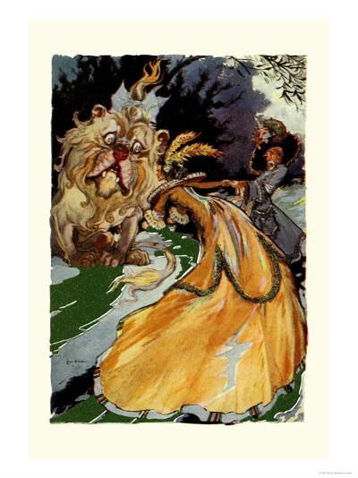 Cowardly Lion-John R^ Neill-Art Print