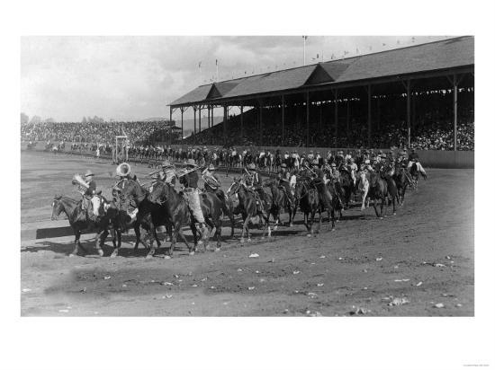 Cowboy Band in the Grand Round-Up Parade - Pendleton, OR-Lantern Press-Art Print