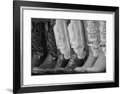 Cowboy Boots BW II-Kathy Mahan-Framed Photographic Print