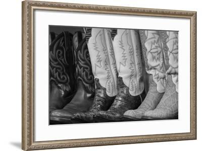 Cowboy Boots BW II-Kathy Mahan-Framed Photographic Print