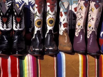 Cowboy Boots Detail, Santa Fe, New Mexico, USA-Judith Haden-Photographic Print