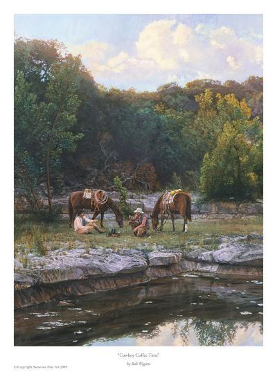 Cowboy Coffee Time-Bob Wygant-Art Print