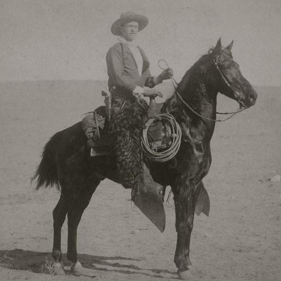 "Cowboy Jim ""Kid"" Willoughby Champion Rider And Roper From Cheyenne, Wyoming-C.D. Kirkland-Art Print"