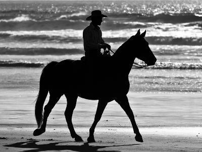 Cowboy on a Horse-Nora Hernandez-Photographic Print