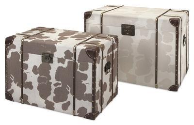 Cowboy Storage Trunk Pair
