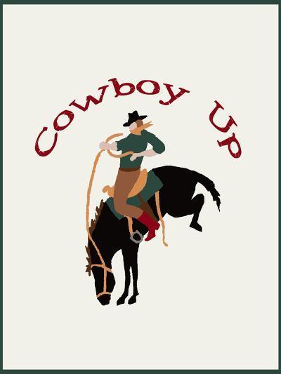 Cowboy Up-L Megroz -Art Print