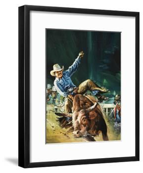 Cowboy-Gerry Wood-Framed Giclee Print