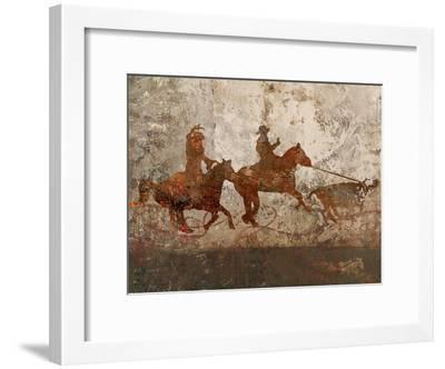 Cowboys 1-Sokol-Hohne-Framed Art Print