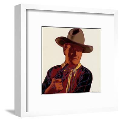Cowboys and Indians: John Wayne 201/250, 1986-Andy Warhol-Framed Art Print