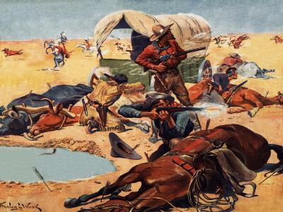 Cowboys and Indians-Stanley L^ Wood-Giclee Print