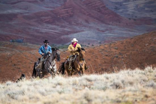 Cowboys at Full Gallop-Terry Eggers-Photographic Print