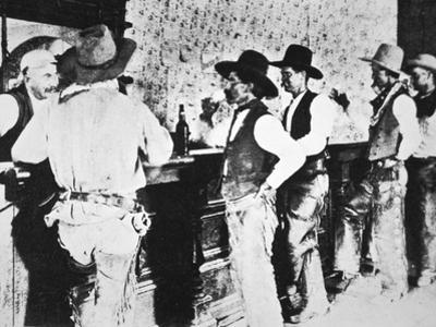 Cowboys Drinking in a Texas Saloon, C.1890