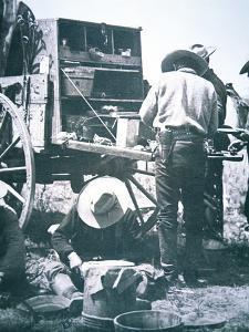 Cowboys Eating at the Chuck Wagon, 1898
