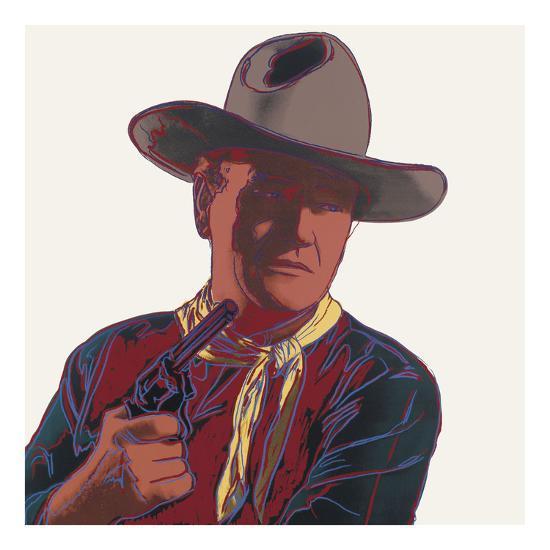 Cowboys & Indians: John Wayne, 1986-Andy Warhol-Art Print