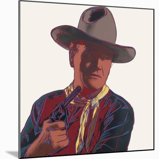 Cowboys & Indians: John Wayne, 1986-Andy Warhol-Mounted Art Print
