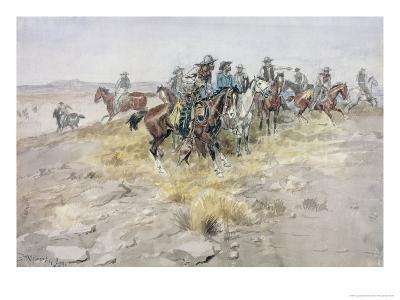 Cowboys-Charles Marion Russell-Giclee Print