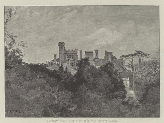 Cowdray Park, Side View from the Private Garden-Charles Auguste Loye-Giclee Print