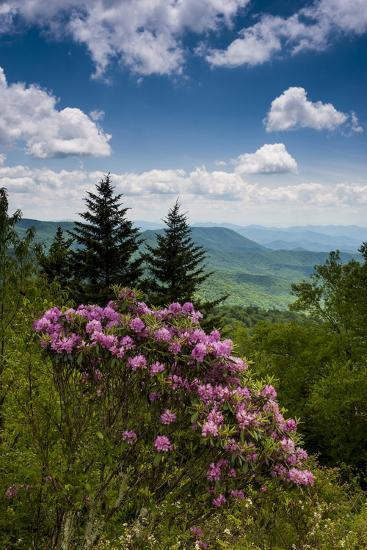 Cowee Mountain Overlook, Blue Ridge Parkway, North Carolina-Howie Garber-Photographic Print