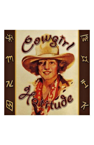 Cowgirl Hattitude--Giclee Print