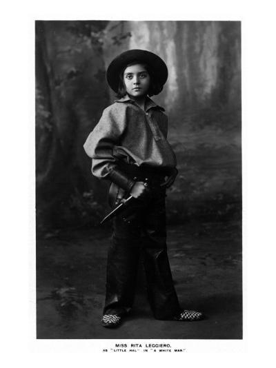 Cowgirl Portrait - Miss Rita Leggiero Holding a Knife-Lantern Press-Art Print