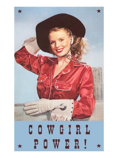 Cowgirl Power, Silk Shirt and Gloves--Art Print