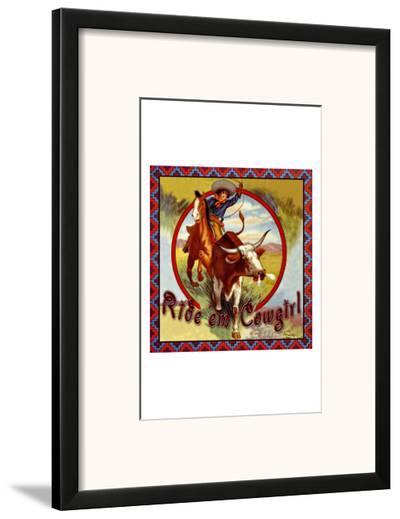 Cowgirl Roper--Framed Giclee Print