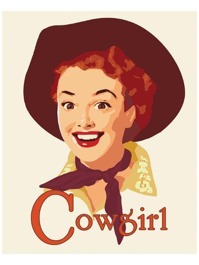 Cowgirl-Richard Weiss-Art Print