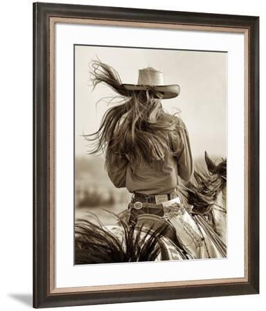 Cowgirl-Lisa Dearing-Framed Art Print