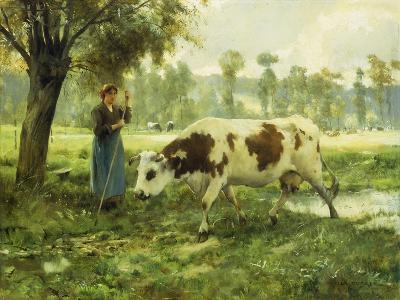 Cows at Pasture-Julien Dupre-Giclee Print