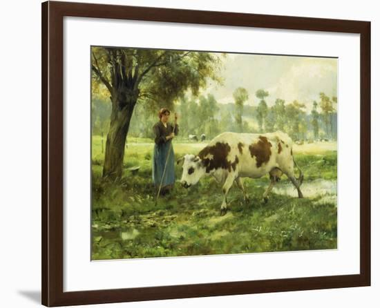 Cows at Pasture-Julien Dupre-Framed Giclee Print