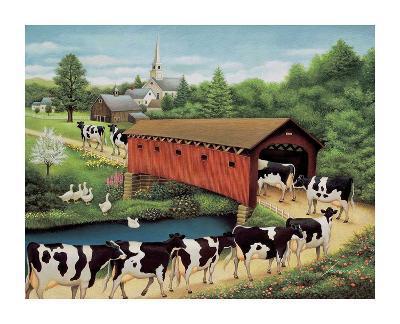 Cows in West Arlington-Lowell Herrero-Art Print