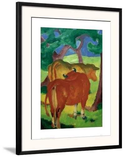 Cows under trees-Franz Marc-Framed Giclee Print
